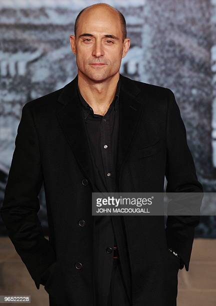 British actor Mark Strong poses for photographers prior to the German premiere of the film Sherlock Holmes in Berlin January 12, 2010. The film's...