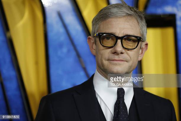 British actor Martin Freeman poses on arrival for the European Premiere of 'Black Panther' in central London on February 8 2018 / AFP PHOTO / Tolga...