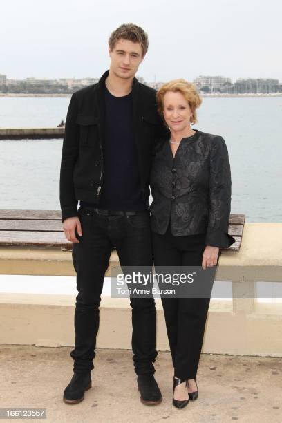 British actor Max Irons and author Philippa Gregory attend photocall for the tv series'The White Queen' at MIP TV 2013 on April 8 2013 in Cannes...