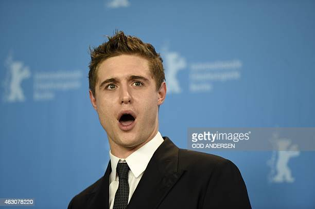British actor Max Irons poses for photographers during a photocall for the film 'Woman in Gold' presented as Berlinale Special at the 65th Berlin...
