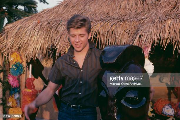 British actor Maxwell Caulfield on the set of 'Grease 2' in Norwalk, California, December 1981.