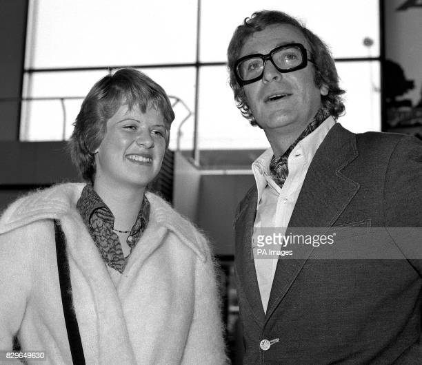 British actor Michael Caine and his 15 yearold daughter Dominique leave for Los Angeles