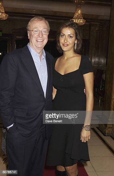 British actor Michael Caine and his daughter Natasha at The Cafe Royal in London November 9 2002 Michael reopened The Grill Room restaurant at the...