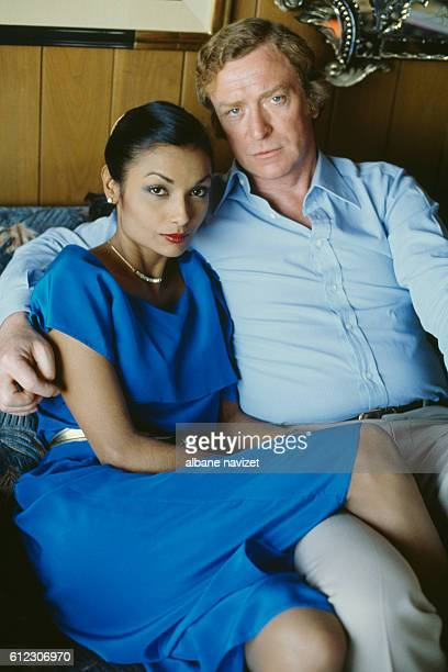 British actor Michael Caine and his wife Shakira Baksh Caine