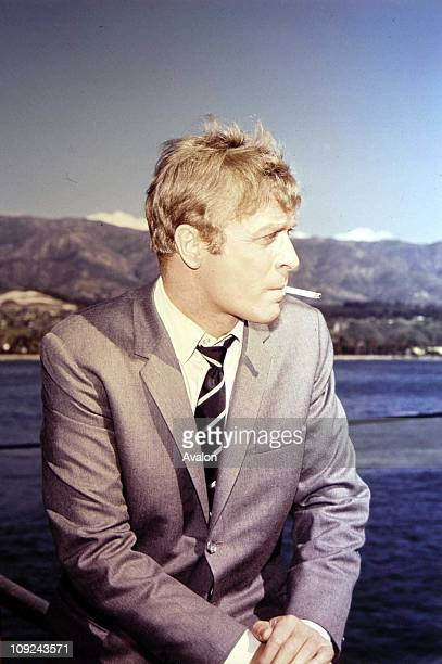 British actor Michael Caine on the location shoot of the film 'Gambit' 1966
