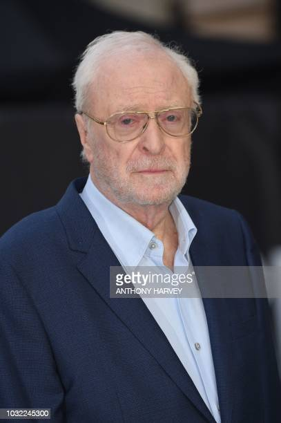British actor Michael Caine poses on the red carpet for the world premiere of King of Thieves in central London on September 12, 2018.