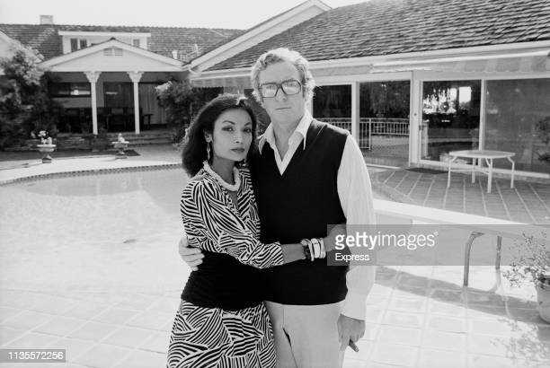 British actor Michael Caine with his wife Shakira, 28th January 1984.