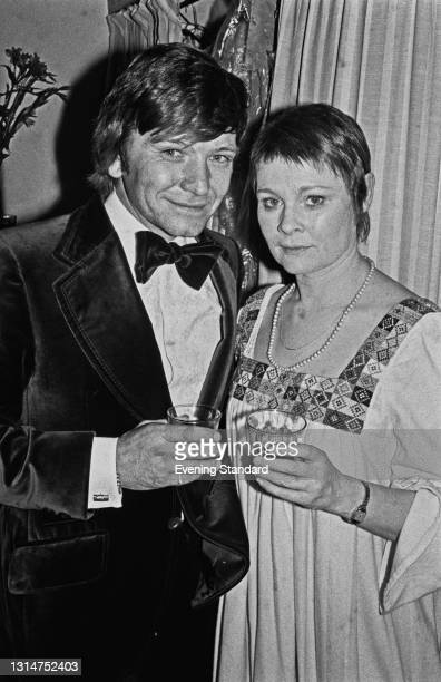 British actor Michael Williams and his wife, actress Judi Dench, UK, 16th July 1974.