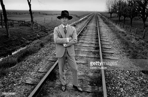 British actor Michael York photographed on a film set in Holland in 1976