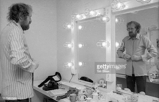 British actor Nicol Williamson in his dressing room at the Circle in the Square Theatre where he was appearing in 'Uncle Vanya' New York New York...