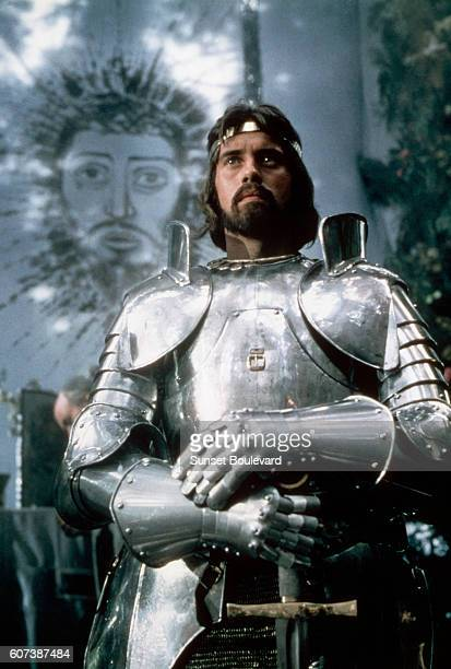 British actor Nigel Terry as King Arthur in the 1981 film Excalibur directed by British director John Boorman