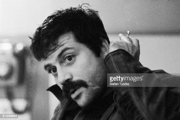 British actor Oliver Reed on the set of 'Women in Love' a film adaptation of the D H Lawrence novel directed by Ken Russell November 1968