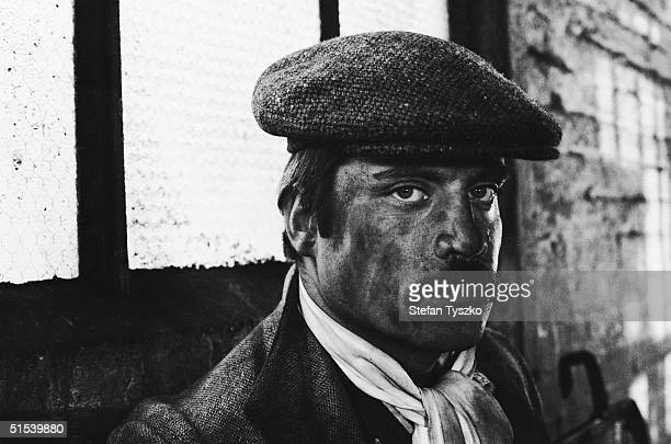 British actor Oliver Reed with a dirtsmeared face on the set of 'Women in Love' a film adaptation of the D H Lawrence novel directed by Ken Russell...