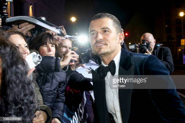 British actor Orlando Bloom arrives for the 20th GQ Men of the Year Award at Komische Oper on November 8 2018 in Berlin Germany