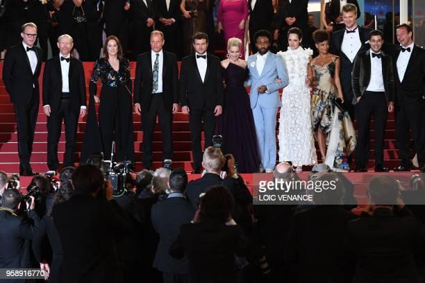 British actor Paul Bettany US director Ron Howard US producer Kathleen Kennedy US actor Woody Harrelson US actor Alden Ehrenreich British actress...