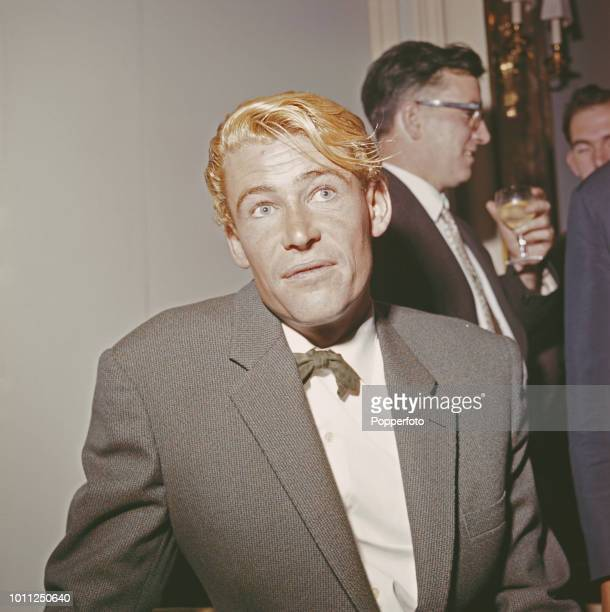 British actor Peter O'Toole who plays Thomas Edward Lawrence in the upcoming film 'Lawrence of Arabia' pictured at a reception in London in December...