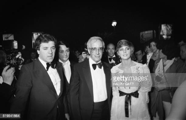 British actor Peter Sellers and his wife Lynne Frederick pictured during the 33rd Cannes Film Festival on May 20 1980 in Cannes prior the screening...