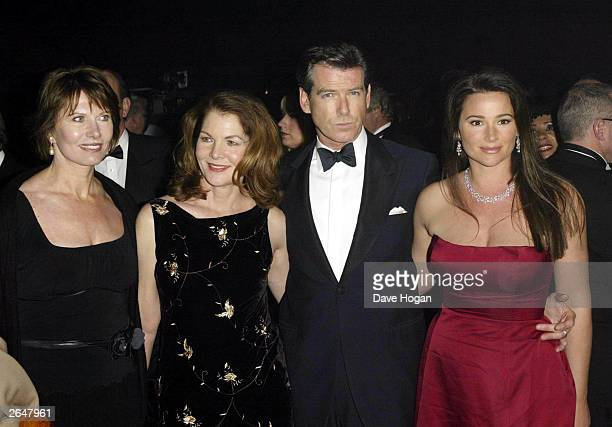 """British actor Pierce Brosnan, his wife and Lois Maxwell attend the world premiere of the James Bond film """"Die Another Day"""" at the Royal Albert Hall..."""
