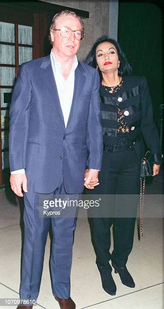British actor, producer, and author Michael Caine and his wife, Indo-Guyanese-British actress and fashion model Shakira Caine attend the birthday...