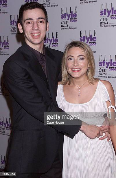 British actor Ralph Little and his girlfriend British television presenter Lisa Rogers attend the Elle Style Awards on July 9 2000 in London