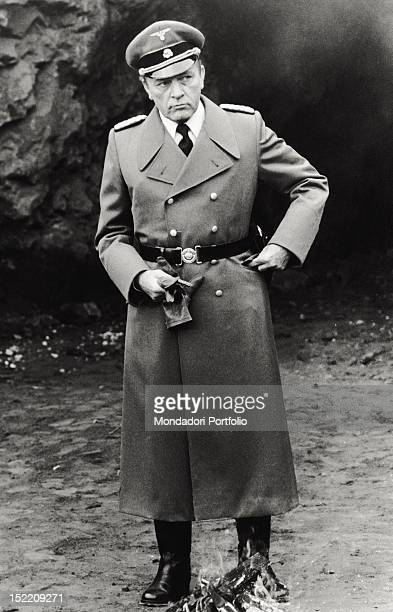British actor Richard Burton as the Gestapo chief Herbert Kappler in a scene from the movie 'Massacre in Rome' the film is about the historical...