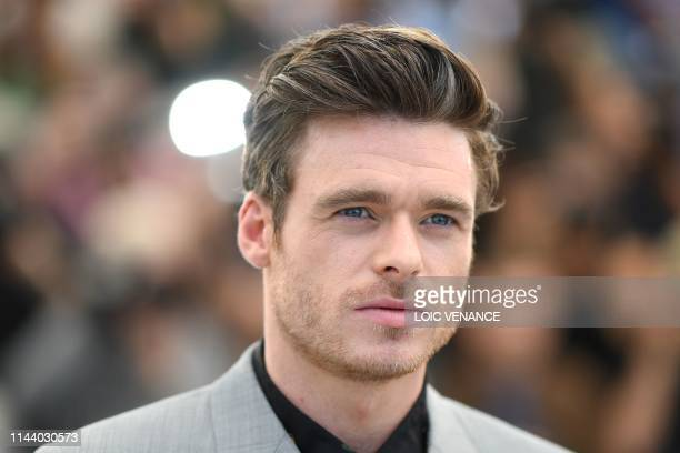 British actor Richard Madden poses during a photocall for the film Rocketman at the 72nd edition of the Cannes Film Festival in Cannes southern...