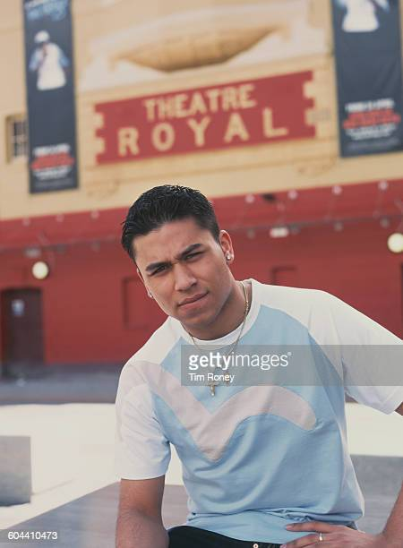 British actor Ricky Norwood who plays Fatboy in the soap opera 'Eastenders' outside the Theatre Royal Stratford East in London circa 2010