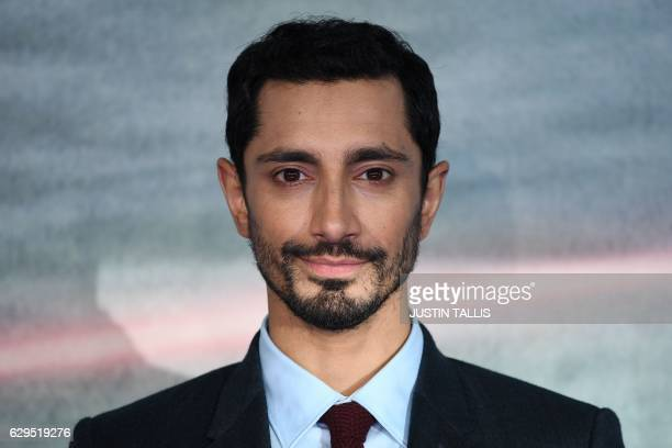 """British actor Riz Ahmed poses upon arrival at the UK launch event of Lucasfilm's """"Rogue One: A Star Wars Story"""", at the Tate Modern in central London..."""