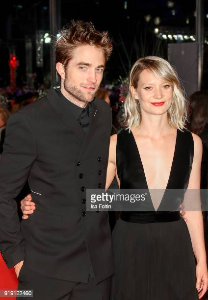 British actor Robert Pattinson and Australian actress Mia Wasikowska attend the 'Damsel' premiere during the 68th Berlinale International Film...