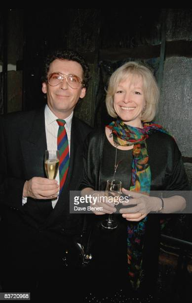British actor Robert Powell and his wife Babs Lord attend the premiere of 'The Last of the Mohicans' in which they both starred 4th November 1992