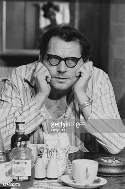 British actor Robert Shaw filming drama film 'The Birthday Party' directed by William Friedkin Shepperton UK 29th March 1968
