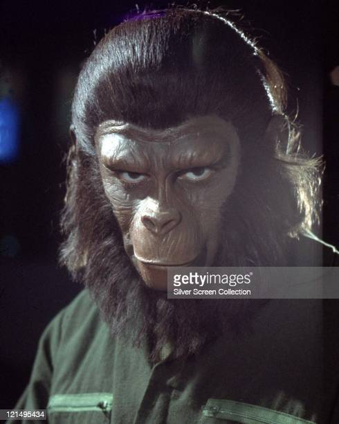 British actor Roddy McDowall as Caesar in 'Conquest of the Planet of the Apes' directed by J Lee Thompson 1972