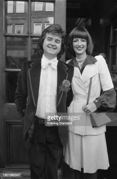 British actor Rodney Bewes marries designer Daphne Black in London, UK, 24th February 1973.