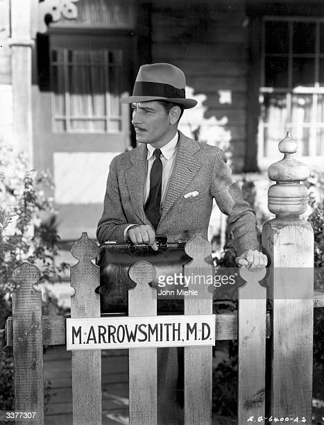 British actor Ronald Colman in a scene from the film 'Arrowsmith' in which he plays the leading role