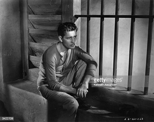 British actor Ronald Colman stars as the unhappy prisoner in the Samuel Goldwyn film 'Condemned' , directed by Wesley Ruggles.