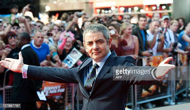 British actor Rowan Atkinson arrives for the UK premiere of Johnny English Reborn at Empire Leicester Square in London on October 2 2011 AFP PHOTO /...