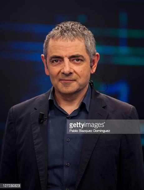 "British actor Rowan Atkinson attends ""El Hormiguero"" TV show at Vertice Studios on September 26, 2011 in Madrid, Spain."