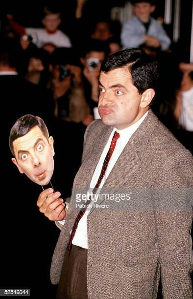 British actor Rowan Atkinson poses at the world movie premiere of his 'BEAN' movie July 12 1997 in Sydney Australia