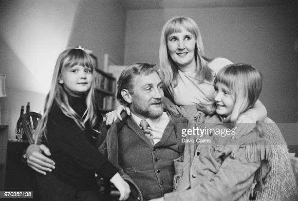 British actor Roy Dotrice with his wife actress Kay Newman and their daughters Yvette and Karen UK 18th January 1967