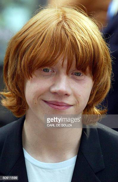 British actor Rupert Grint arrives at the premiere of the latest Harry Potter Film 'the Prisoner of Azkaban' at Leicester Square in London Britain 30...