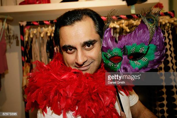 British actor Sanjeev Bhaskar poses for a Comic Relief photo session in La Bette Femme a fashion shop in Carnaby St London