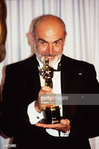 British Actor Sean Connery At 1988 Oscars Ceremony.