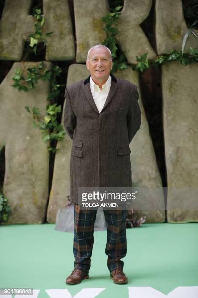 British actor Simon Greenall poses on the carpet arriving to attend the world premiere of the film Early Man in London on January 14 2018 / AFP PHOTO...