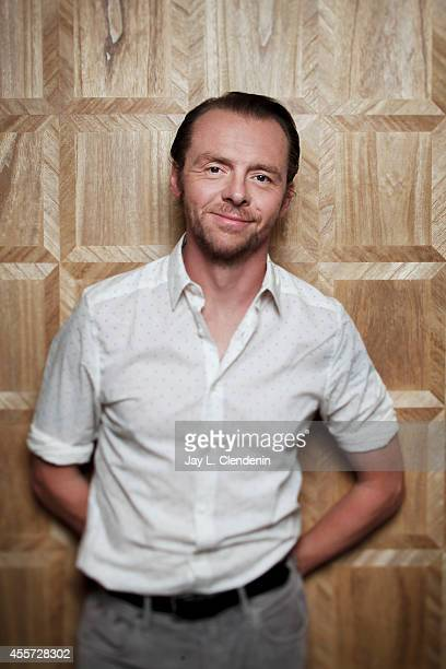 British actor Simon Pegg Simon Pegg is photographed for Los Angeles Times on July 31 2014 in West Hollywood California PUBLISHED IMAGE CREDIT MUST...