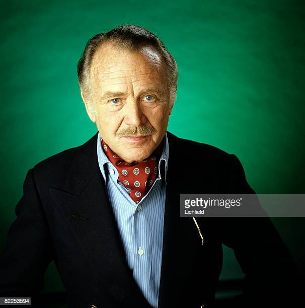 British actor Sir John Mills photographed in the Studio on 28th March 1980