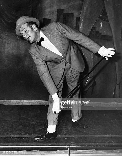 British actor Sir Laurence Olivier in rehearsal for his role in John Osborne's play 'The Entertainer' at the Royal Court Theatre, London.