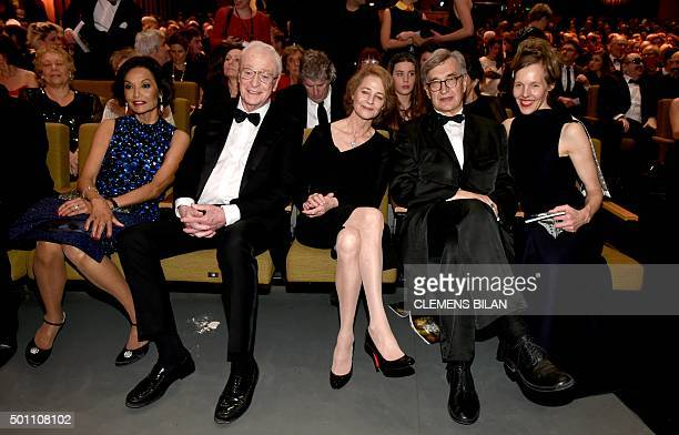 British actor Sir Michael Caine and his wife Shakira , British actress Charlotte Rampling , German director Wim Wenders and his wife Donata attend...