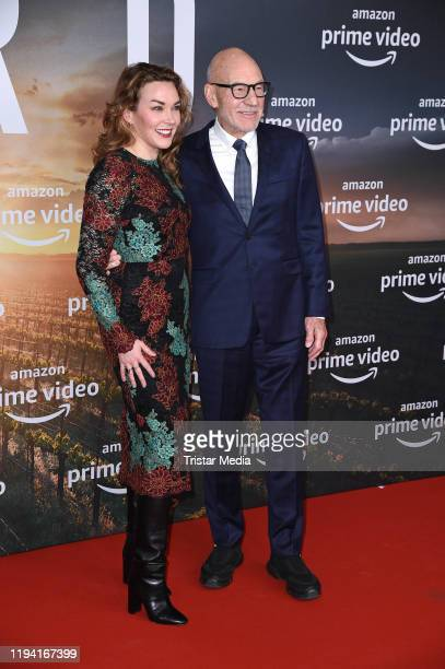 """British actor Sir Patrick Stewart and his wife Sunny Ozell attend the """"Star Trek: Picard"""" fan screening at Zoo Palast on January 17, 2020 in Berlin,..."""
