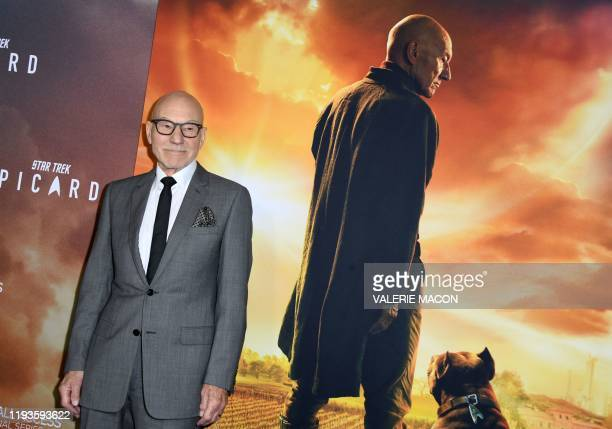 British actor Sir Patrick Stewart attends the Premiere of Star Trek: Picard | Red Carpet Premiere at the Arclight Hollywood, in Hollywood,...