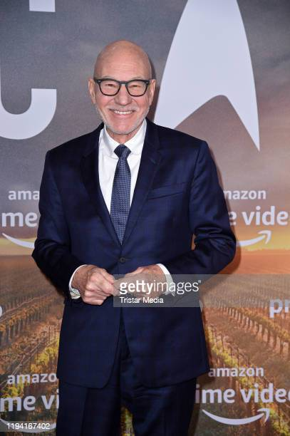 British actor Sir Patrick Stewart attends the Star Trek Picard fan screening at Zoo Palast on January 17 2020 in Berlin Germany